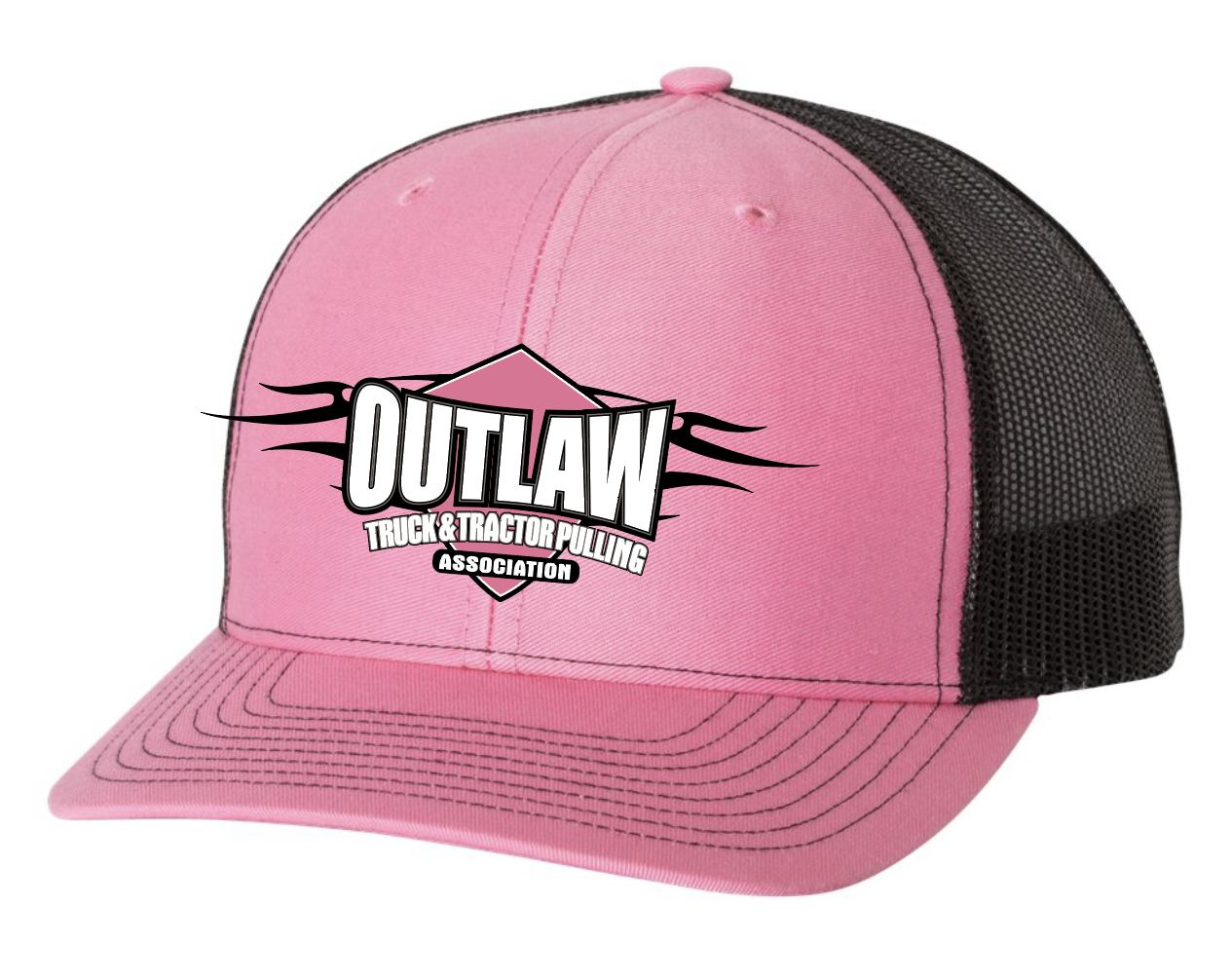 Ladies Black and Pink Hat - Outlaw Truck and Tractor Pulling Association 3412cfd15f79